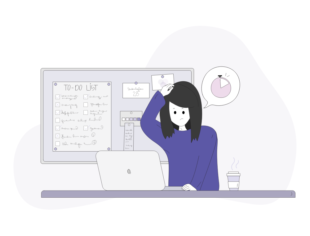 Woman Working On To Do List